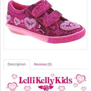 NIB Lelli Kelly Ava Pink Glitter Sparkle Sneakers
